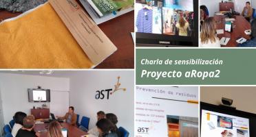 Imagen de charla sobre el proyecto aRopa2