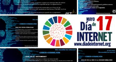 Imagen de ciberconsejos de AST en el día mundial de Internet