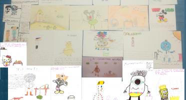 Imagen de dibujos realizados por alumnos de primaria de diversos colegios